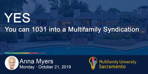 YES!  You can 1031 into a Multifamily Syndication