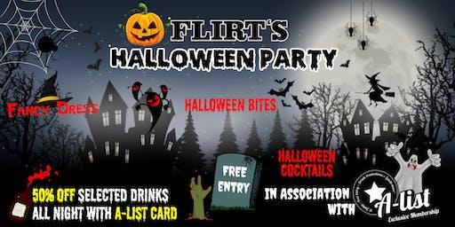 Flirt's Halloween Party