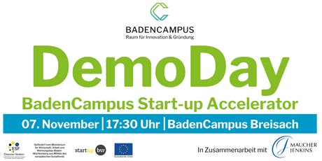 DemoDay BadenCampus Start-up Accelerator 2019 Tickets