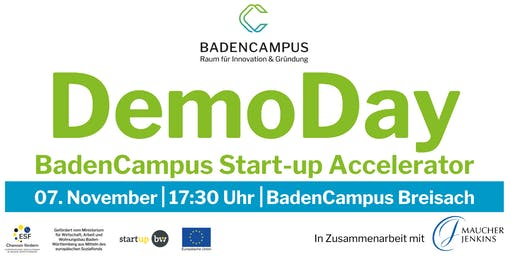 DemoDay BadenCampus Start-up Accelerator 2019