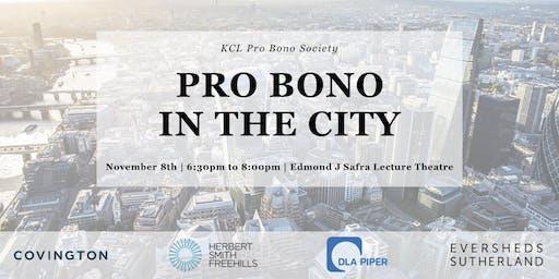 Pro Bono in the City Panel