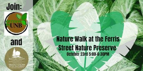 Nature Walk at Ferris Street Nature Preserve tickets