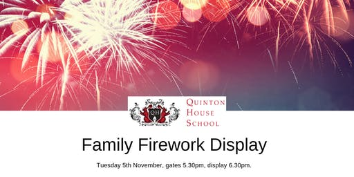 Quinton House Family Firework Display