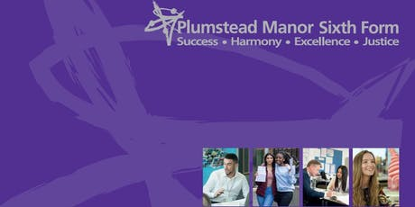 Plumstead Manor Sixth Form Open Evening - 30th October 2019 tickets