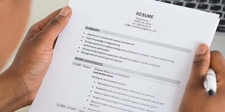 Resume Preparation Workshop and Individual Consultations tickets