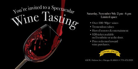 CARNIVAL WINE TASTING SPECTACULAR tickets