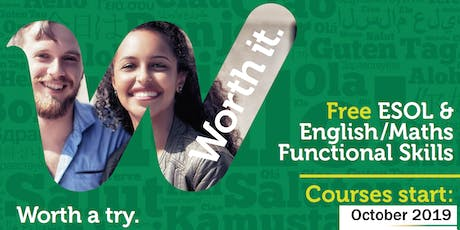 FREE Courses in English,Maths and ESOL tickets