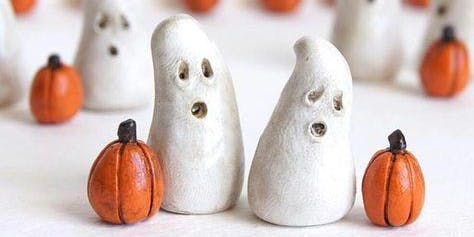 Family Crafternoons: Clay Ghosts and Pumpkins