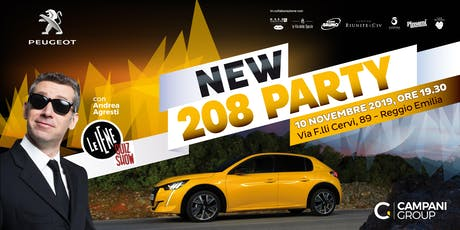 NEW PEUGEOT 208 PARTY REGGIO EMILIA biglietti