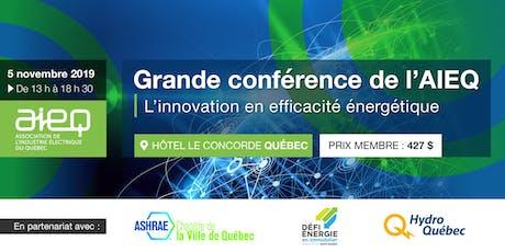 AIEQ - Grande conférence à Québec billets
