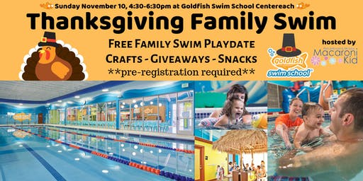 Macaroni Kid Thanksgiving Swim at Goldfish Swim School