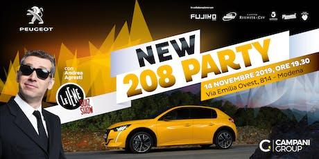 NEW PEUGEOT 208 PARTY MODENA biglietti