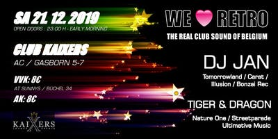 WE LOVE RETRO  - DJ JAN, TIGER & DRAGON