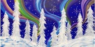 Snow Covered Aurora Borealis
