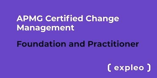 APMG Certified Change Management - Foundation and Practitioner  (5 Days)