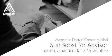 StarBoost for Advisor:  Avvocati e Dottori Commercialisti biglietti