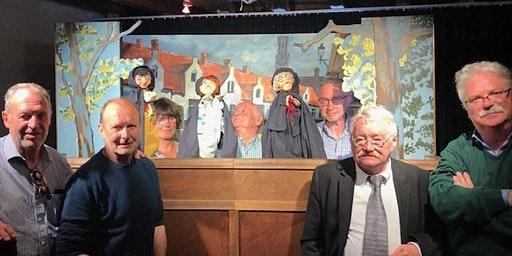 "Poppentheater Uilenspiegel Brugge Titel  ""ik ken Brugge in men herte"""