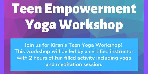 Kiran Teen Yoga Workshop