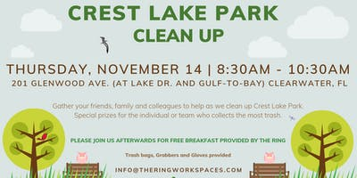 Crest Lake Park Clean Up