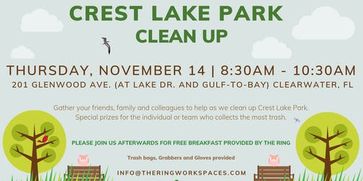 Crest Lake Park Clean Up