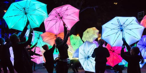 LED Umbrella Parade - Paisley Halloween Festival, Scotland