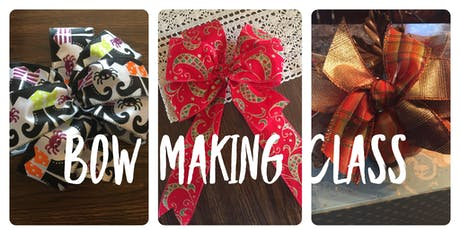 Holiday Bow Making Class tickets