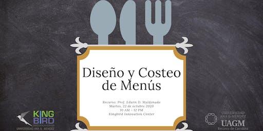 Diseño y Costeo de Menús