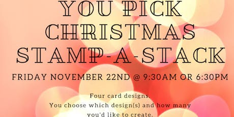 You Pick Christmas Card Stamp-a-Stack tickets
