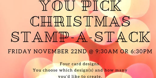 You Pick Christmas Card Stamp-a-Stack