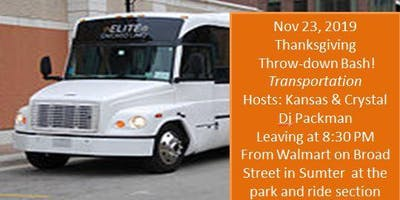 Thanksgiving Throwdown Bash Transportation