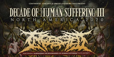 INGESTED 'Decade of Human Suffering Tour' + VISCERAL DISGORGE -PORTLAND