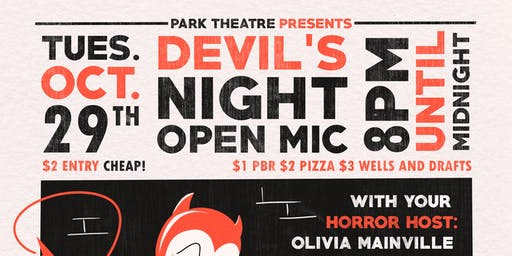 Devils Night Open Mic @ Park Theatre