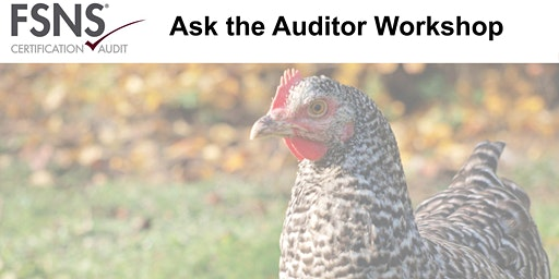 FSNS C&A  Ask the Auditor Workshop