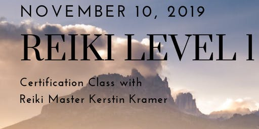 Reiki Level 1 Certification Class