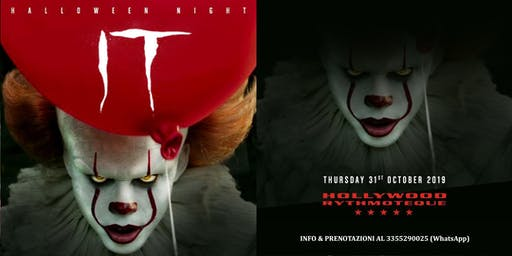 Hollywood Milano presenta IT: The Halloween Party ✆ 3355290025