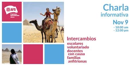 Charlas Informativas AFS México entradas