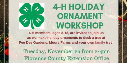 4-H Holiday Ornament Crafting Party