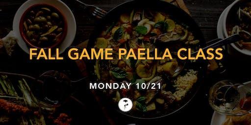 Fall Game Paella Class