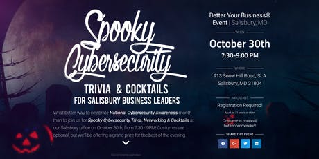 Spooky Cybersecurity Trivia, Cocktails & Networking tickets