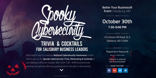 Spooky Cybersecurity Trivia, Cocktails & Networking