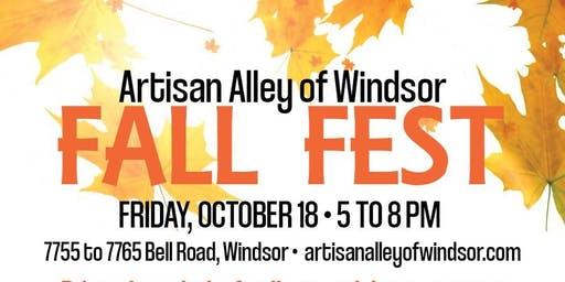 Artisan Alley of Windsor  - Final Friday Night In The Alley, Oct 18
