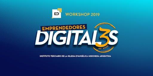 """WORKSHOP """"Emprendedores Digitales"""" 3ra Edición"""