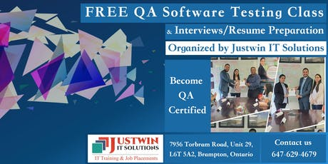 FREE QA Software Testing Class - Interviews/Resume tickets
