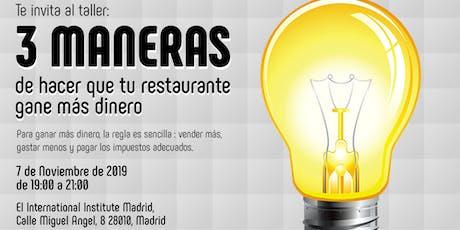 3 Maneras De Hacer Que Tu Restaurante Gane Más Dinero entradas