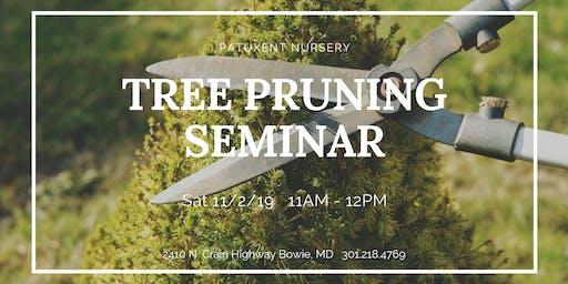 Fall Tree Pruning Seminar