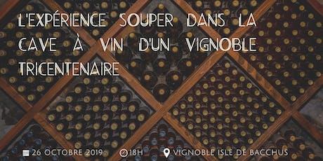 L'expérience souper dans la cave à vin d'un vignoble tricentenaire billets