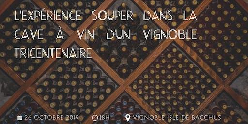 L'expérience souper dans la cave à vin d'un vignoble tricentenaire