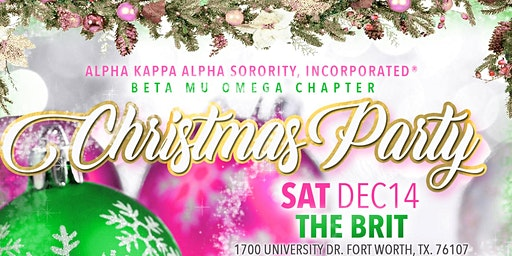Alpha Kappa Alpha Sorority, Inc. Beta Mu Omega Christmas Party