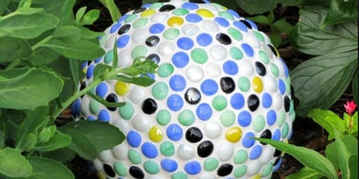 Beginners Mosaic Class:  Mailbox  ~ Stepping Stone ~ Table ~ House Numbers ~ Gazing Ball