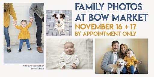 Family Photos at Bow Market